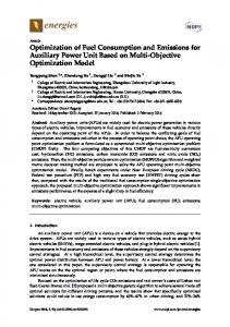 Optimization of Fuel Consumption and Emissions for Auxiliary ... - MDPI