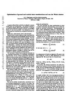 Optimization of ground and excited state wavefunctions and van der ...