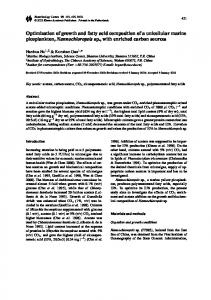 Optimization of growth and fatty acid composition of a unicellular ...