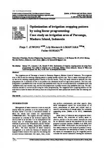 Optimization of irrigation cropping pattern by using linear programming