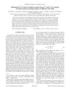 Optimization of K bursts for photon energies ... - APS Link Manager