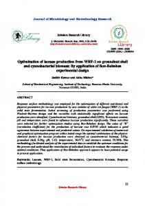 Optimization of laccase production from WRF-1 on groundnut shell ...