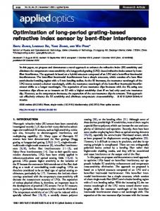 Optimization of long-period grating-based refractive ... - OSA Publishing