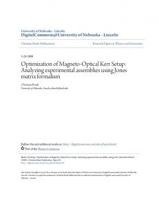 Optimization of Magneto-Optical Kerr Setup ... - Semantic Scholar