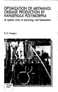 optimization of methanol oxidase production by ...