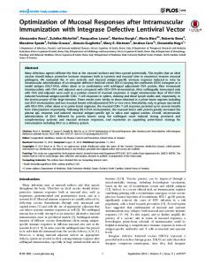 Optimization of Mucosal Responses after ... - Semantic Scholar