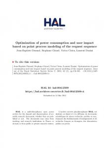 Optimization of power consumption and user impact based on ... - Hal