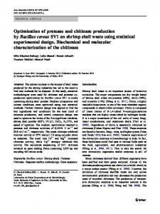 Optimization of protease and chitinase production by Bacillus cereus ...