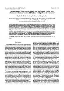 Optimization of Reflectron for Kinetic and Mechanistic Studies with ...