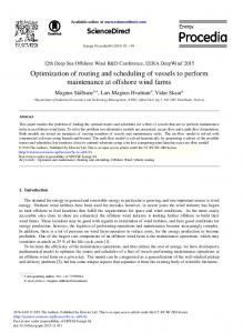 Optimization of Routing and Scheduling of Vessels to ... - Science Direct