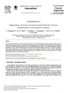 Optimization of Silicon-rich Silicon Nitride Films for Electron ... - Core