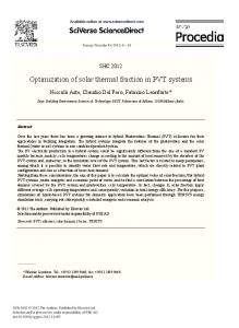 Optimization of Solar Thermal Fraction in PVT Systems