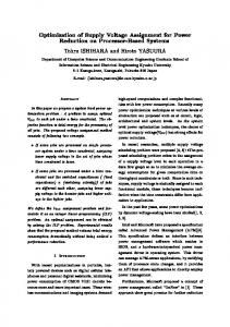 Optimization of Supply Voltage Assignment for Power ... - CiteSeerX