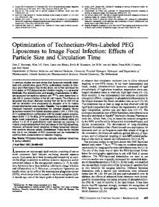 Optimization of Technetium-99m-Labeled PEG Liposomes ... - CiteSeerX