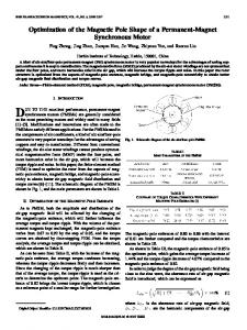 Optimization of the Magnetic Pole Shape of a ... - IEEE Xplore