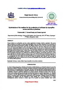 Optimization of the medium for the production of cellulases ... - iMedpub