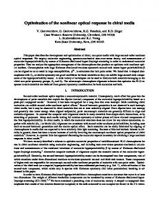 Optimization of the nonlinear optical response in chiral ... - CiteSeerX