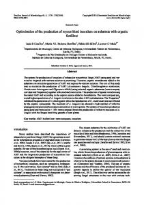 Optimization of the production of mycorrhizal inoculum on ... - SciELO