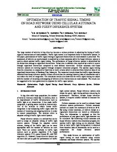 optimization of traffic signal timing on road network using cellular ...