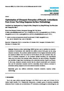 Optimization of Ultrasonic Extraction of Phenolic ... - CiteSeerX