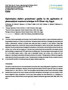 Optimization shallow groundwater quality by the application of