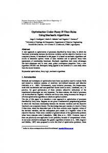 Optimization Under Fuzzy If-Then Rules Using Stochastic Algorithms