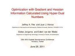 Optimization with Gradient and Hessian ... - Stanford University
