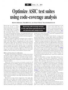 Optimize ASIC test suites using code-coverage analysis