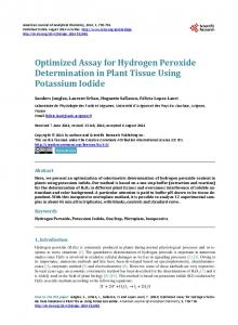 Optimized Assay for Hydrogen Peroxide Determination in Plant Tissue ...