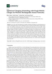 Optimized Charging Scheduling with Single ... - Semantic Scholar