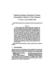 Optimized Interface Conditions for Domain Decomposition Methods in ...