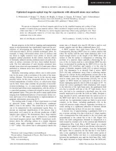 Optimized magneto-optical trap for experiments with ultracold atoms ...