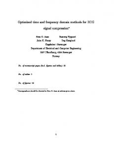 Optimized time and frequency domain methods for ECG signal
