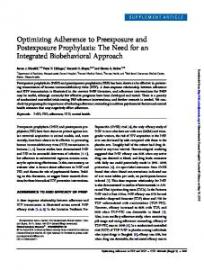 Optimizing Adherence to Preexposure and