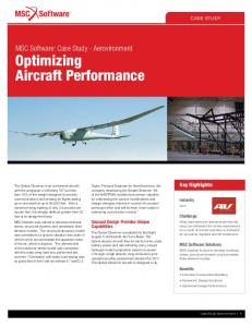 Optimizing Aircraft Performance - MSC Software