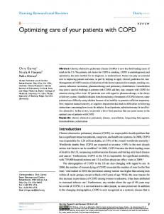 Optimizing care of your patients with COPD