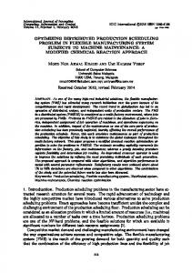 optimizing distributed production scheduling problem in flexible ... - ijicic