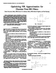Optimizing fir approximation for discrete-time iir filters - IEEE Xplore