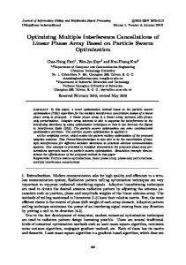 Optimizing Multiple Interference Cancellations of Linear ... - JIHMSP