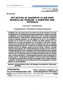 optimizing of makespan in job shop scheduling problem - ijmerr