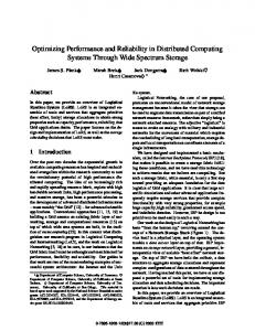 Optimizing Performance and Reliability in ... - Semantic Scholar
