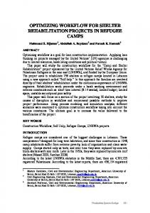 optimizing workflow for shelter rehabilitation projects in refugee camps