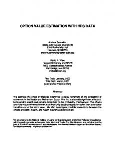 option value estimation with hrs data
