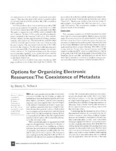 Options for Organizing Electronic Resources - Wiley Online Library