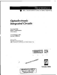 Optoelectronic Integrated Circuits