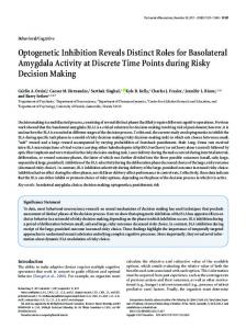 Optogenetic Inhibition Reveals Distinct Roles for Basolateral ...