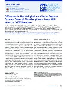 or CALR-Mutations - KoreaMed Synapse