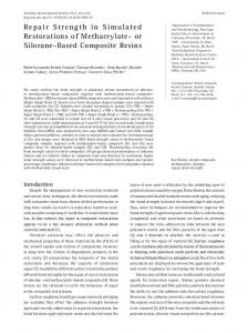 or Silorane-Based Composite Resins - SciELO