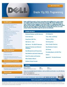 Oracle 10g SQL Programming - Dell