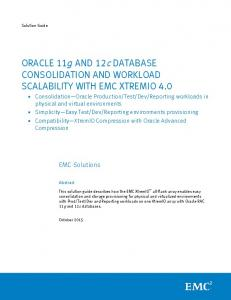 ORACLE 11g AND 12c DATABASE CONSOLIDATION AND ...